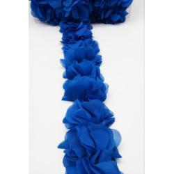 Pasamanería de Flores Azul Eléctrico (5cm)