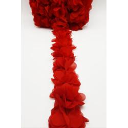 Pasamanería de Flores Roja (5cm)