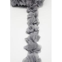 Pasamanería de Flores Gris (5cm)
