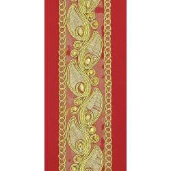 Pasamanería de Organza y Pedrería Dorada (4,5 cm)
