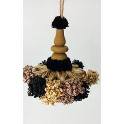 Borla Fantasía Camel, Beige y Negro (12 cm)