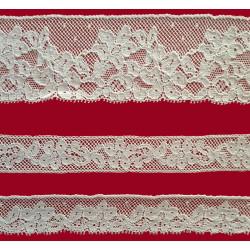 Encaje de Valencien Beige (Puntilla 4,5 cm/ Entredos 2 cm y Puntilla 2 cm)