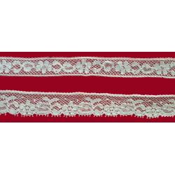 Encaje de Valencien Beig (Entredos 1,5 cm y Puntilla 1,5 cm)