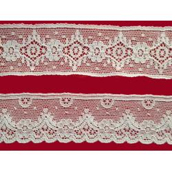 Encaje de Valencien Beig (Entredos 3,8 cm y Puntilla 3,8 cm))