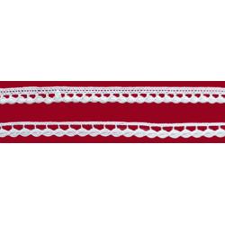 Encaje de Bolillo Banco (1 cm y 0,8 cm)