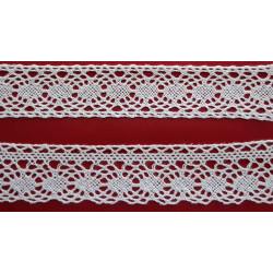 Encaje de Bolillo Blanco (Entredos 3 cm y Puntilla 3 cm)