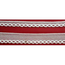 Encaje de Bolillo Blanco (1,2 cm y 2,5 cm)