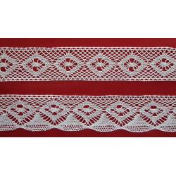 Encaje de Bolillo Blanco (Entredos 2,5 cm y Puntilla 2,5 cm)