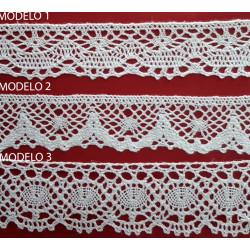 Encaje de Bolillo Blanco (3,2 cm/ 3,4 cm y 4 cm)