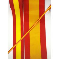 Cinta Bandera de España (0,65 cm/ 1 cm/ 1,7 cm/ 2,5 cm /3,9 cm/4,9 cm/ 6,6 cm/ 8 cm y 10 cm)
