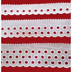 Punta tira bordada beige (2,5 cm/ 4 cm y 5 cm)