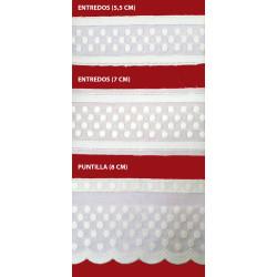 Tira bordada beige (Entredos 5,5 cm/ Entredos 7 cm y Puntilla 8 cm