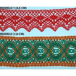Encaje de Bolillo Color (4,5 cm y 6 cm)