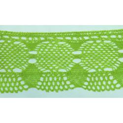Encaje de Bolillo Color Verde Pistacho (8 cm)