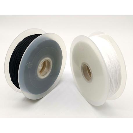 Cordón Elástico Suave tipo mascarilla (Negro y Blanco)