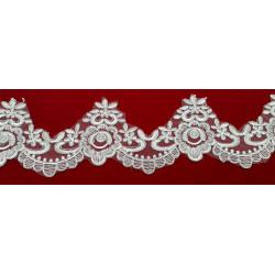 Tul Bordado Color Plata (8 cm)