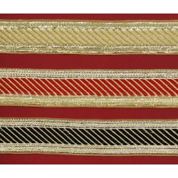 Galón Dorado, Rojo y Negro (3 cm)
