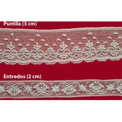 Encaje de Valencien Beig (Puntilla 2,5 cm/ Puntilla 3,5 cm y Entredos 2 cm)