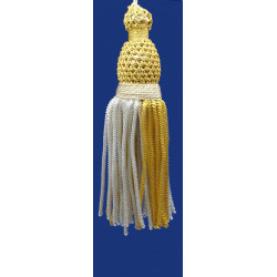 Borla de Canutillo Plata y Oro (11,5 cm)