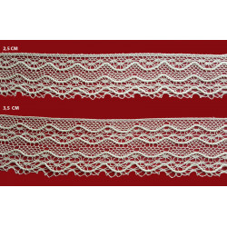 Encaje de Bolillo Fino efecto Valencien (2,5 y 3,5 cm)