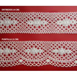 Encaje de Bolillo Fino efecto Valencien (4 y 5 cm)