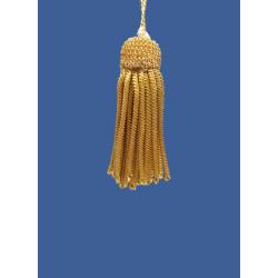 Borla de Canutillo de Oro (7 cm)