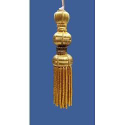 Borla de Canutillo de Oro (12 cm)