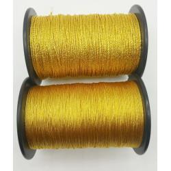 (Pieza completa) Cordón de imitación de oro entrefino torzal