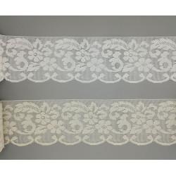 Encaje de Bolillo Blanco y Crudo (11 cm)