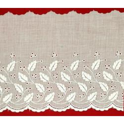 Tira bordada blanca (13 cm)