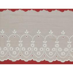 Tira bordada blanca (11,5 cm)