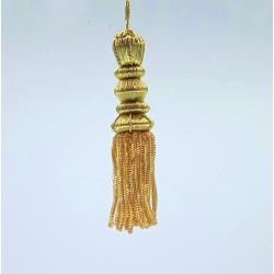 Borla de Canutillo de Oro (10 cm)