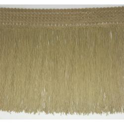 Fleco de seda Beige arena y Camel (25 cm)
