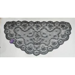 MEDIA LUNA AMANTILLADA (Color Negro 130x62cm)